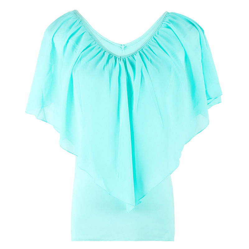 Chiffon Short Sleeved T-shirt