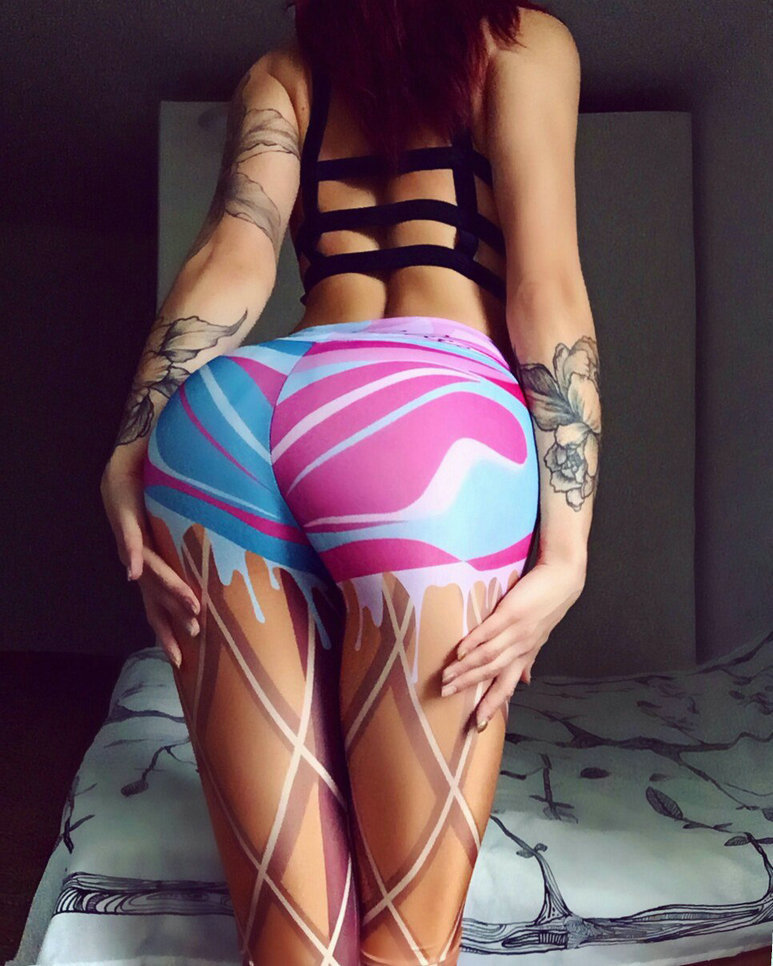 Printed Short Leggings